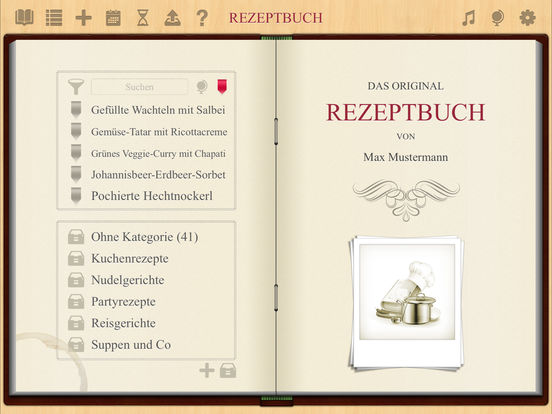 Rezeptbuch Screenshot