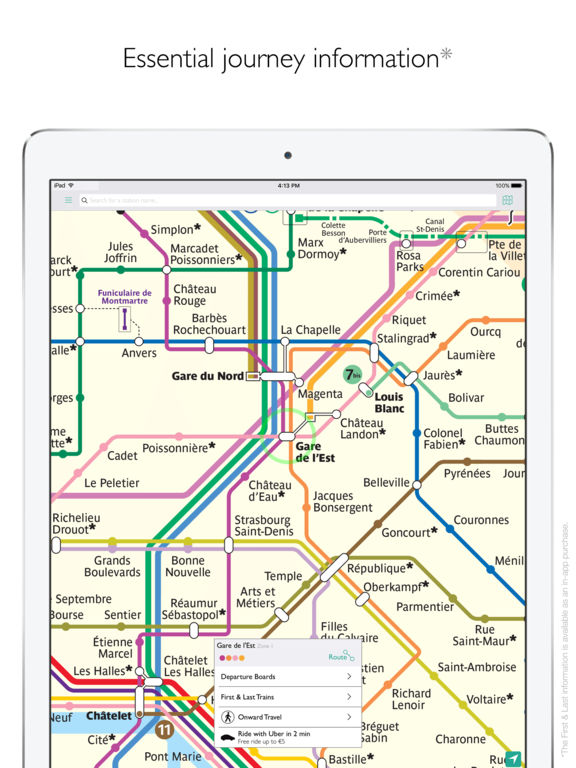 Paris Metro Map Departures And Route Planner On The App Store
