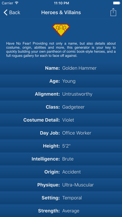 Characterize - Character Creator & Random Name Generator for