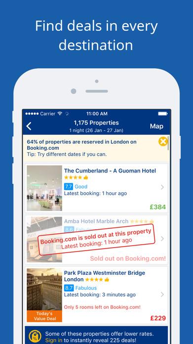 Booking.com Hotel & Homes Travel Deals Screenshot