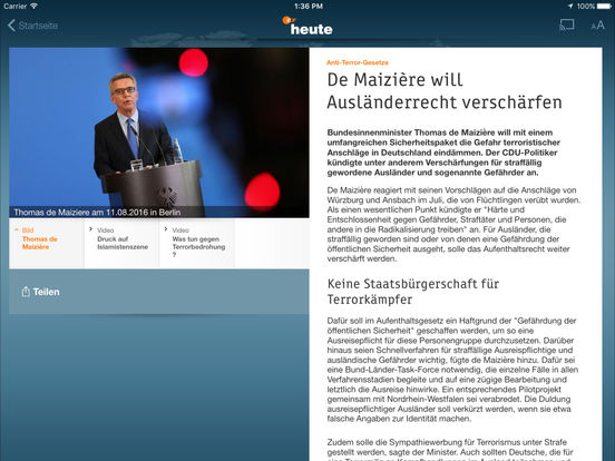 ZDFheute Screenshot
