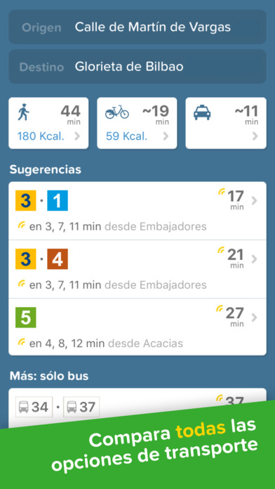 Citymapper - Bus, Metro, Tren en Madrid, Barcelona Screenshot