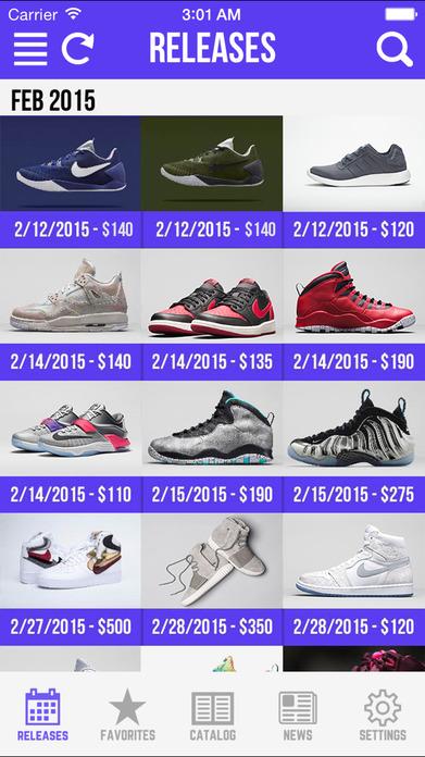 Sneaker Crush - Air Jordan & Nike Release Dates Screenshot