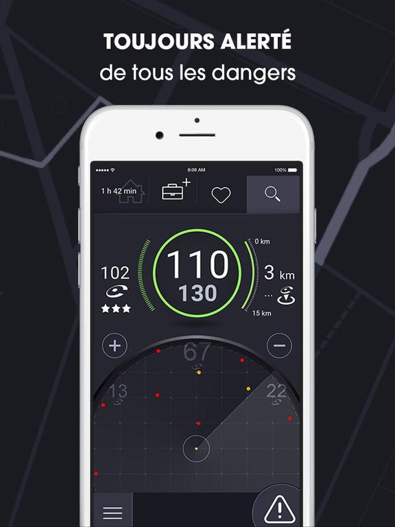 coyote navigation gps trafic alertes dans l app store. Black Bedroom Furniture Sets. Home Design Ideas