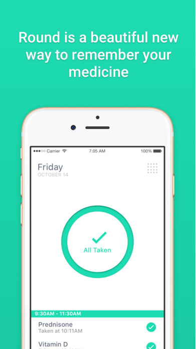Round Health - Medicine reminder and pill tracker Screenshot