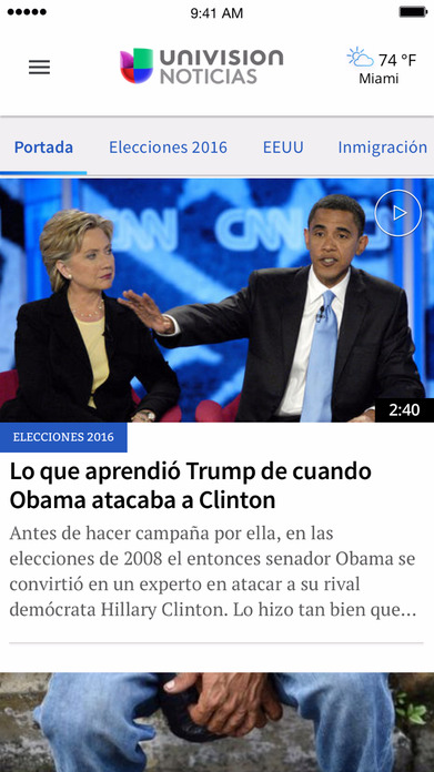 Univision Noticias - Política, Economía, Deportes Screenshot