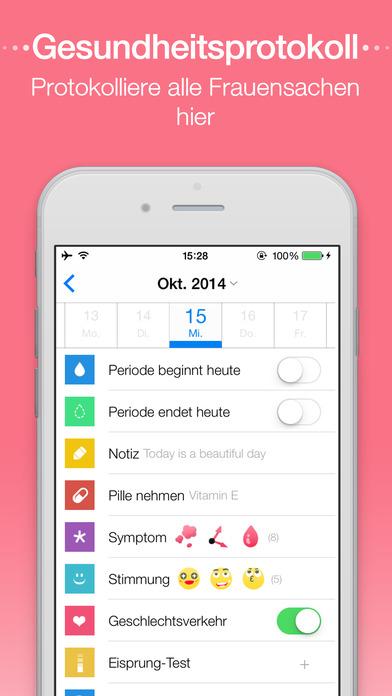 menstruations kalender period calendar free mac software. Black Bedroom Furniture Sets. Home Design Ideas