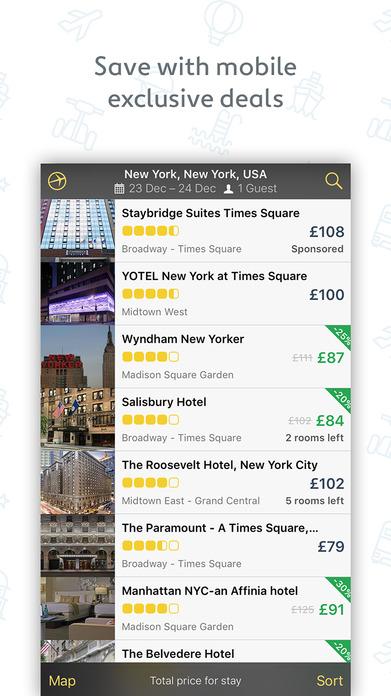Expedia Hotels, Flights & Holiday Package Deals Screenshot