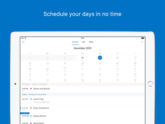 Microsoft Outlook - email and calendar Screenshot