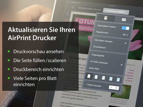 Printer Pro – Dokumente, Mails, Fotos ausdrucken Screenshot
