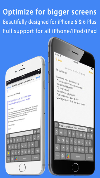 Voice Keyboard Pro ™ my language dictionary speech speak app with free color theme keyboards for iPhone for iOS 8 Screenshot