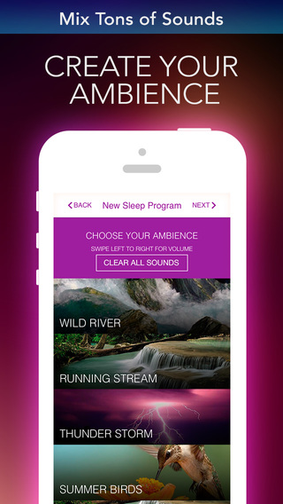 Alarm Clock Sleep Sounds Pro: Guided Meditation for Relaxation Cycle, Hypnosis and insomnia Screenshot