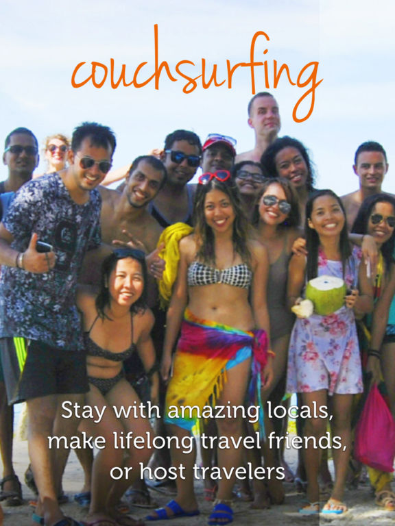 Couchsurfing Travel App Screenshot