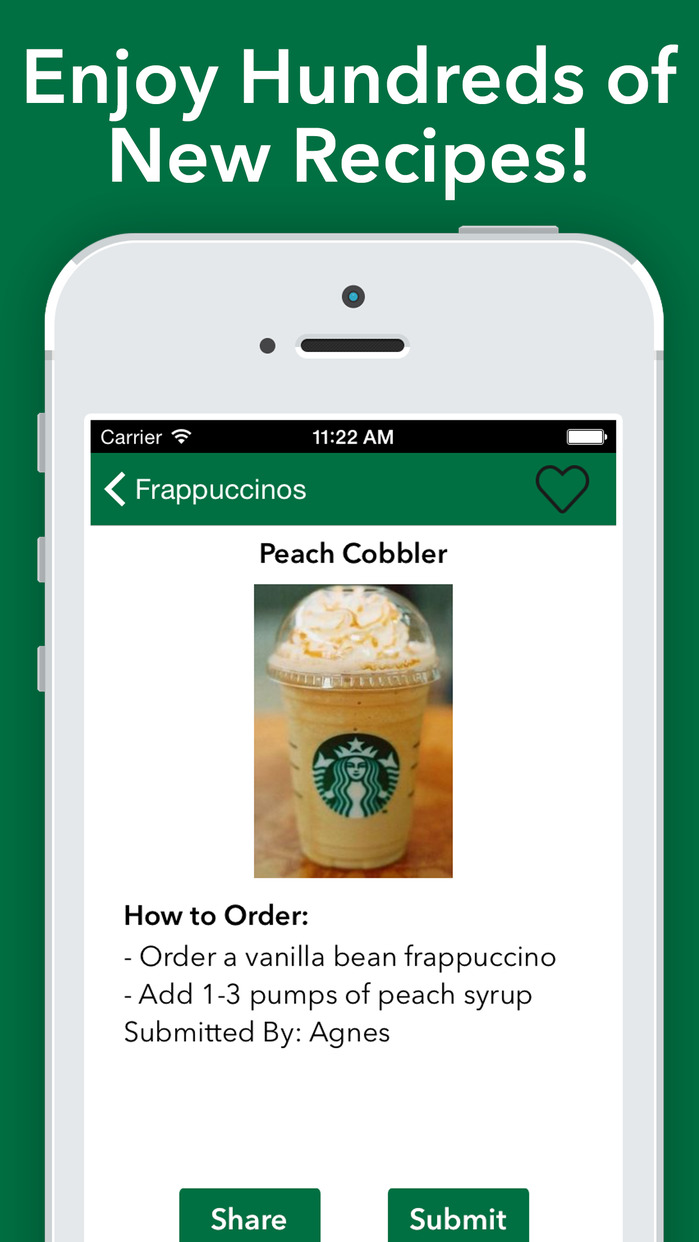 Secret Menu for Starbucks Free - Coffee Recipes Screenshot