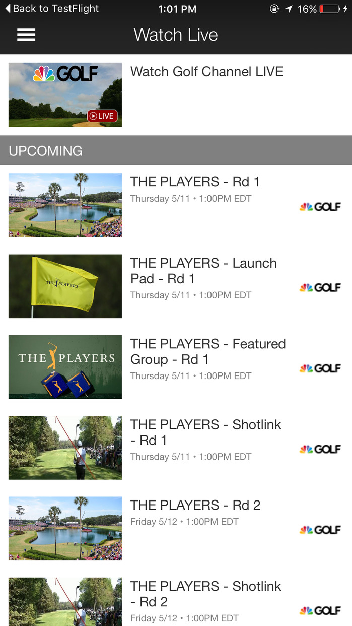 Golf Channel Screenshot