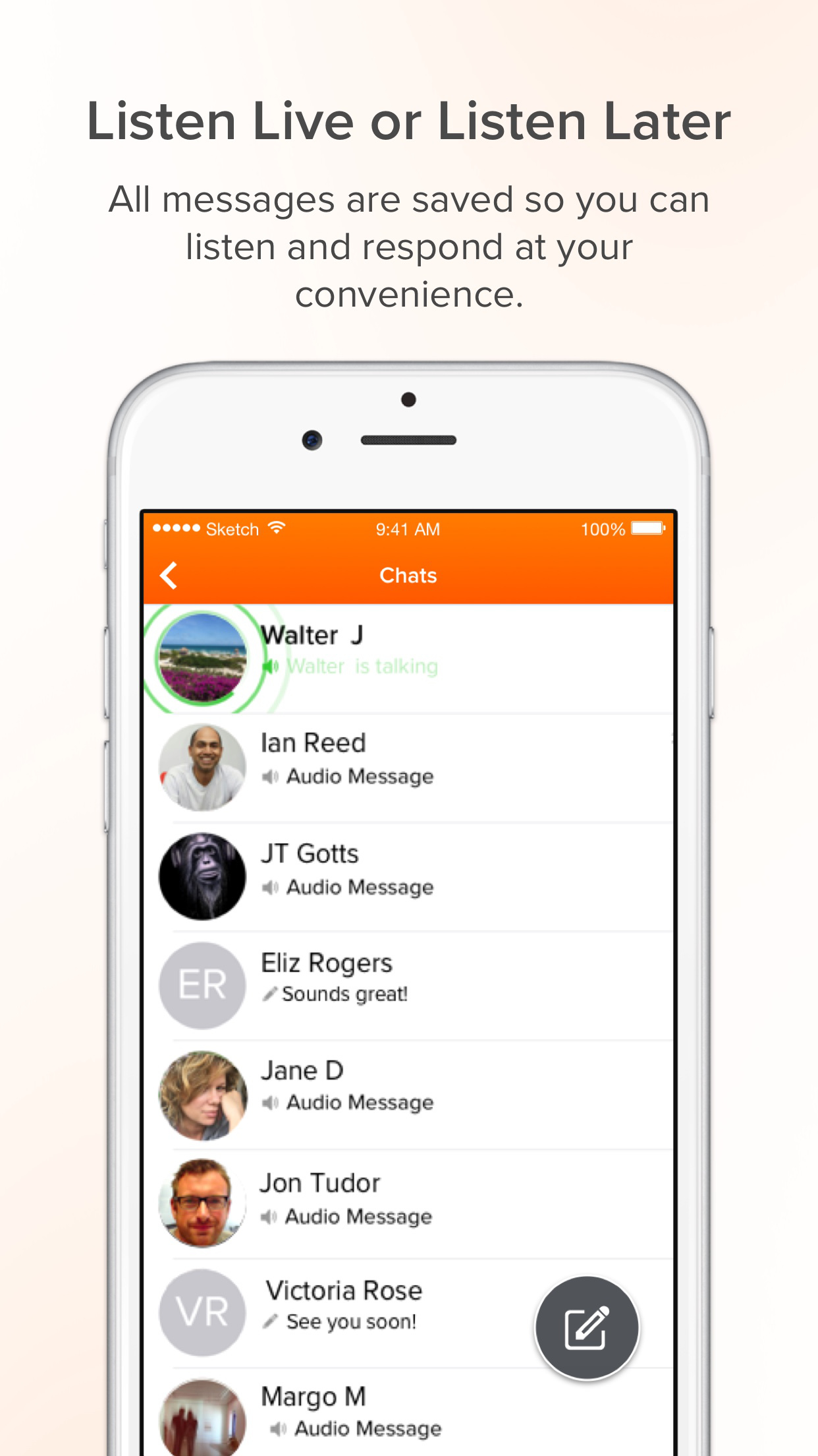 Voxer Walkie Talkie Messenger Screenshot