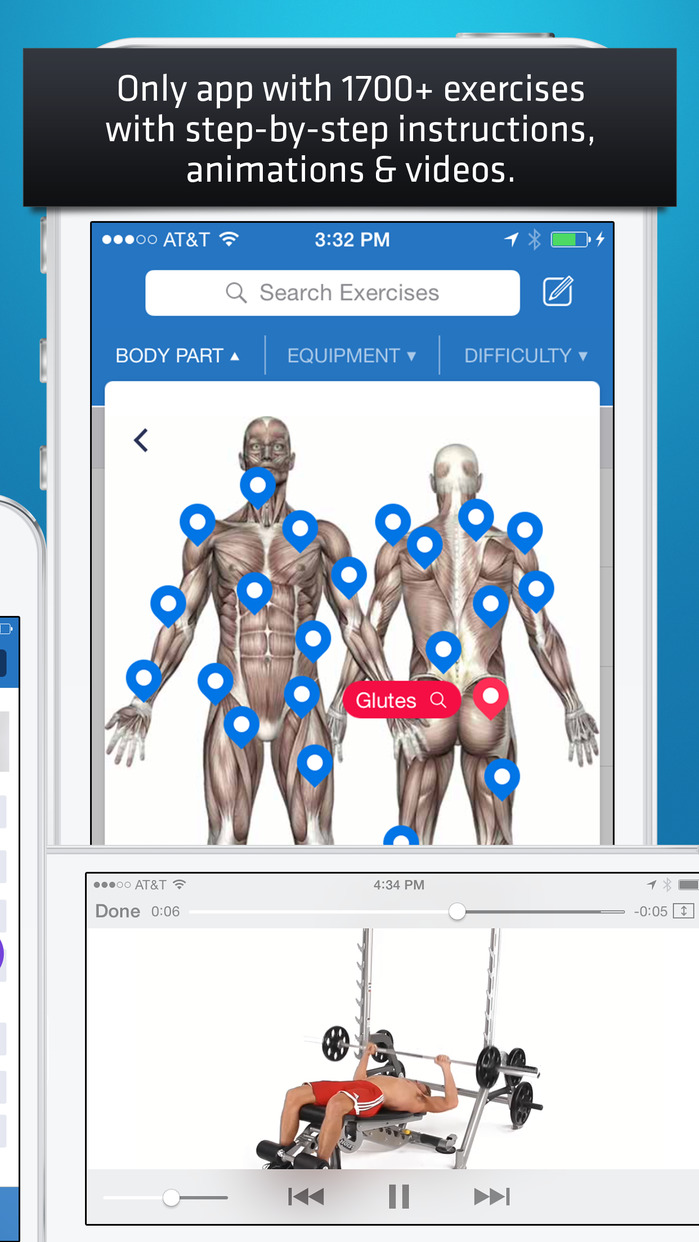Fitness Buddy: Gym & Home Workout Exercise Trainer Screenshot