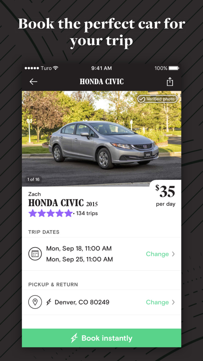 Turo - Rent Better Cars, Courtesy of Local Hosts Screenshot