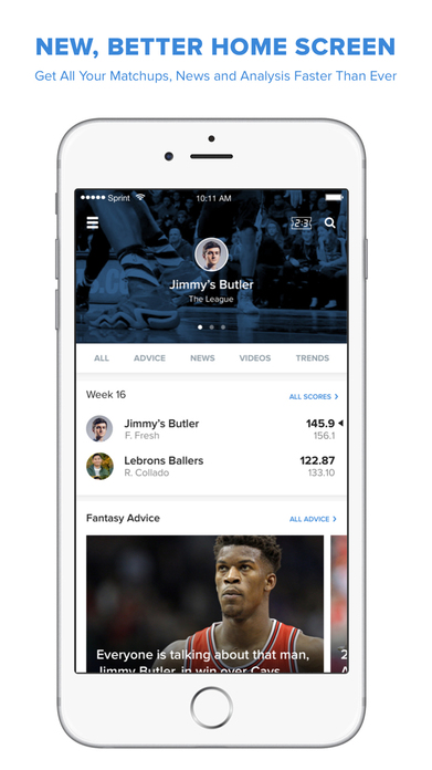 CBS Sports Fantasy Football, Baseball & Basketball Screenshot