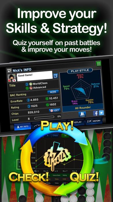 バックギャモン エース -Best Free Backgammon Game - iPhoneア