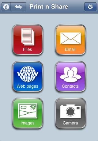 Print n Share for advanced printing Screenshot