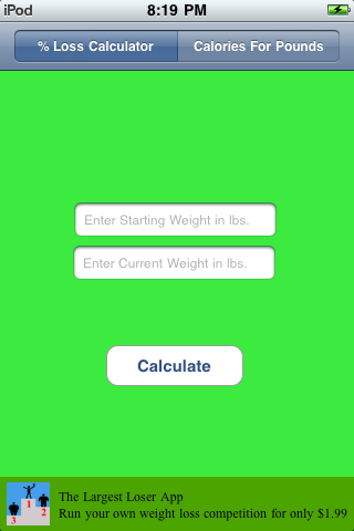 Weight Loss Calculator App for Free - iphone/ipad/ipod touch
