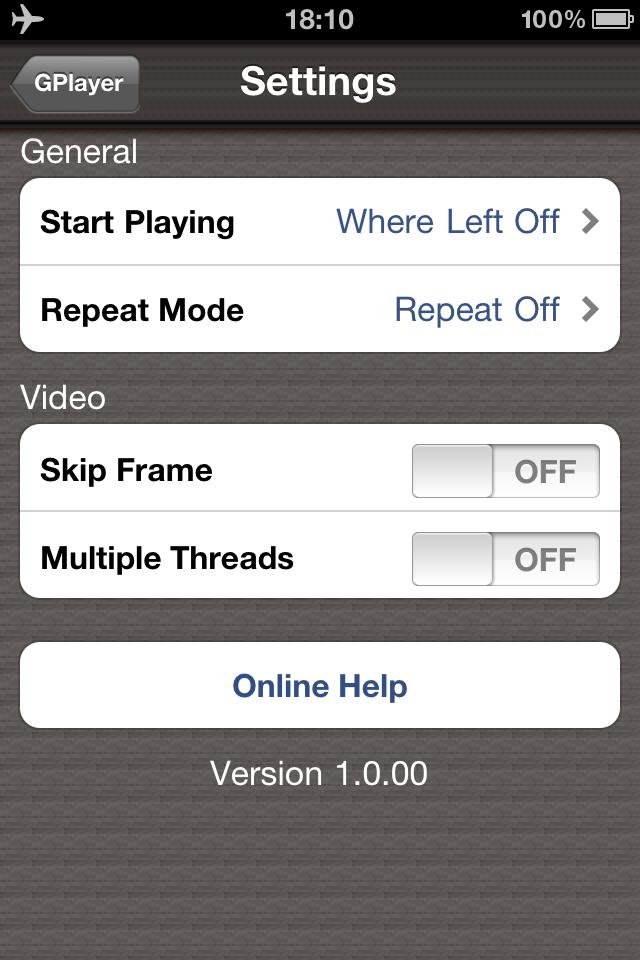 GPlayer Screenshot