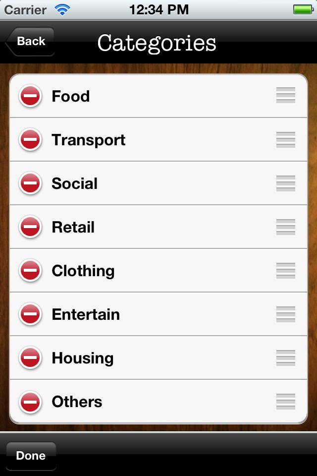 Spentable Screenshot