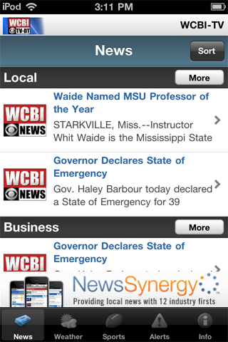 wcbi-tv, llc News Weather free download for iOS and iPad OS
