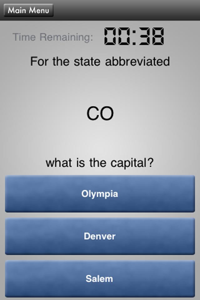 HowToSolve – State Capitals Pop Quiz Screenshot