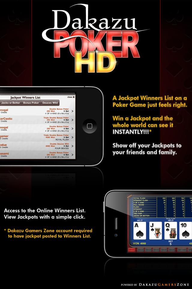 Dakazu Poker HD – Video Poker Screenshot