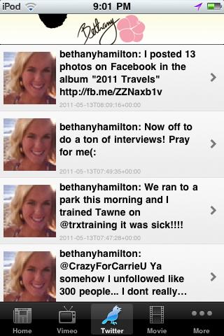 Bethany Hamilton News Screenshot