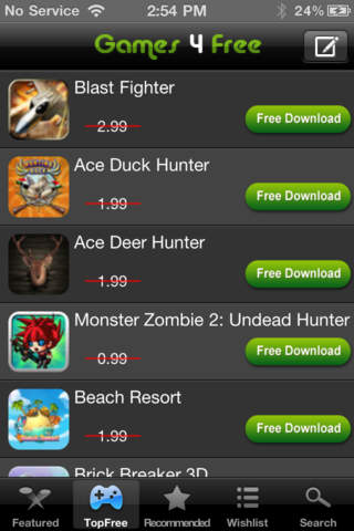 Games 4 Free (Paid Games 4 Free) Screenshot on iOS