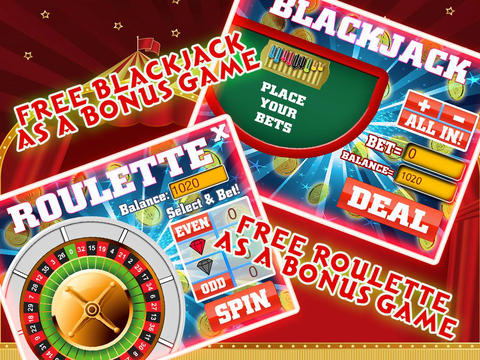 A A+ Slots in Circus - Play with exotic circus animals and Win Ace King Golden Bonanza-ipad-2