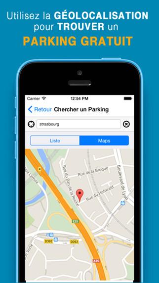 parking gratuit app app. Black Bedroom Furniture Sets. Home Design Ideas