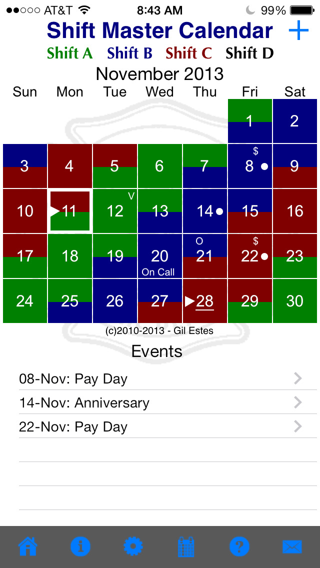 Firefighter Shift Calendar App For Iphone