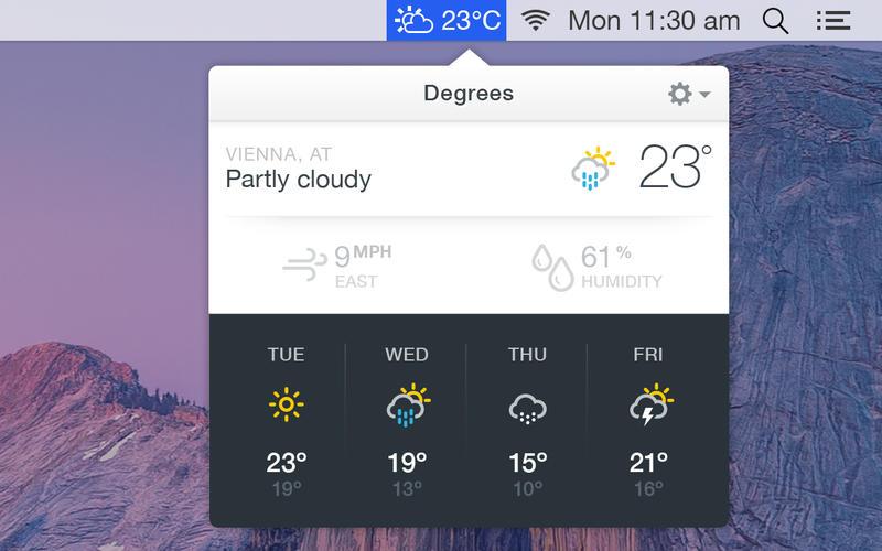 how to get weather on macbook menu bar