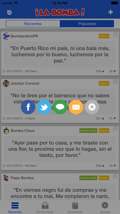 La Bomba! Screenshot on iOS