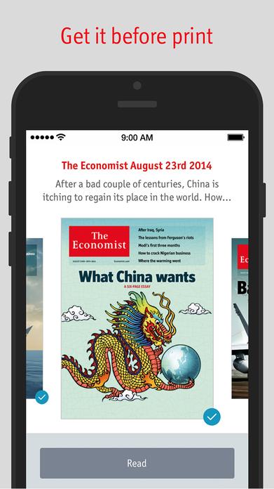 The Economist for iPhone Screenshot