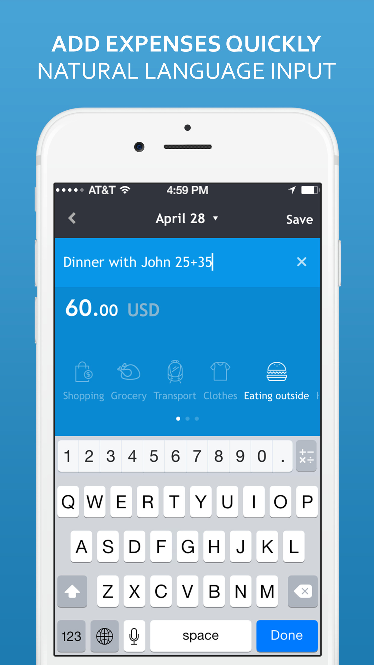 Sumptus – Money Saver and Daily Expense Tracker screenshot-1