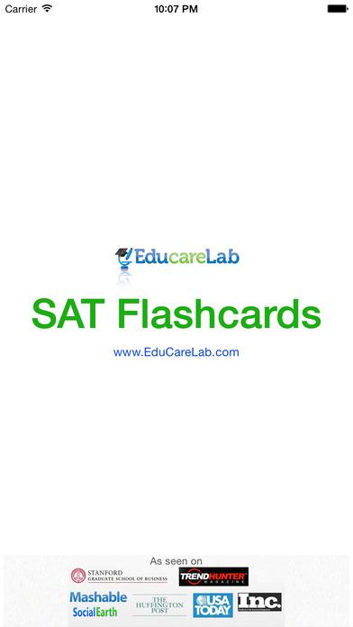 SAT Vocab Flashcards Screenshot on iOS