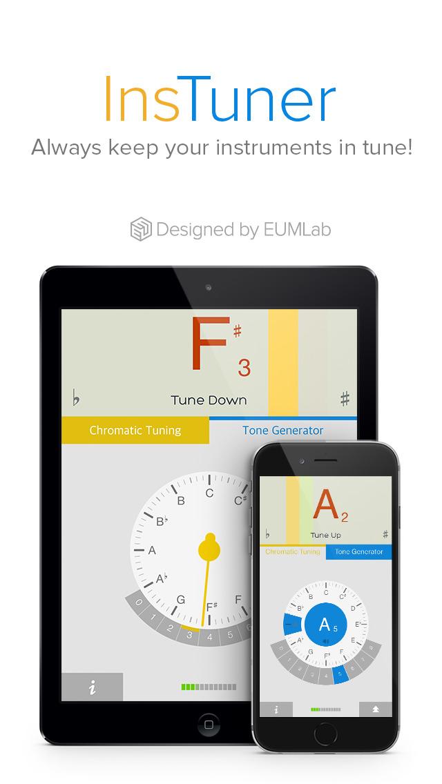 app shopper instuner free chromatic tuner music. Black Bedroom Furniture Sets. Home Design Ideas