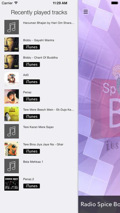 Radio Spice Box Screenshot on iOS