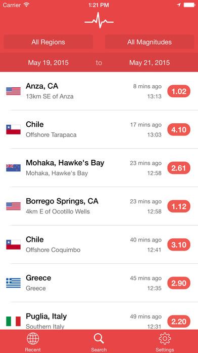 My Earthquake Alerts - News & Notifications for Worldwide Earthquakes Screenshot