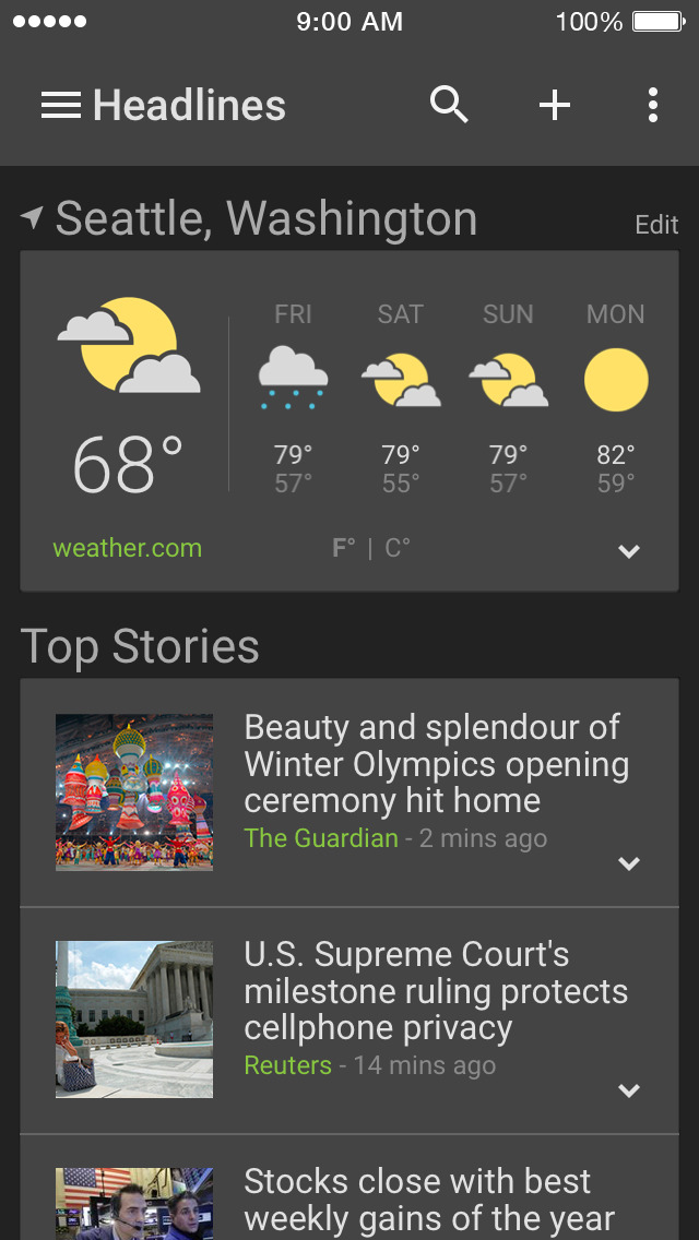 Download Google News & Weather App Store softwares - iNqiPbsQjqvp