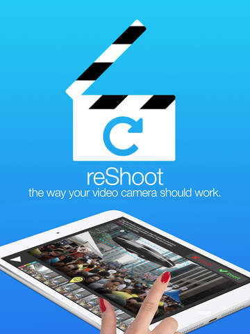 reShoot Video & Photo Camera with Editor - featuring Video Editing, Emojis, Stickers, Bubbles, Text, and Special Effects. Screenshot