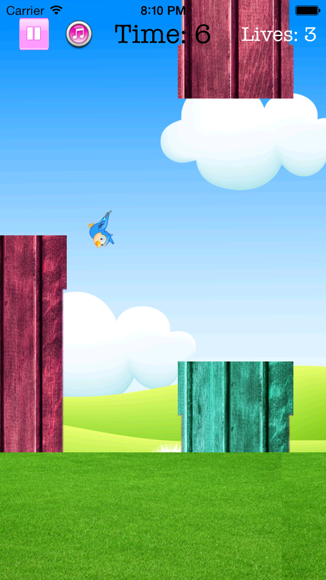 Fly Birdie - One touch branch jump