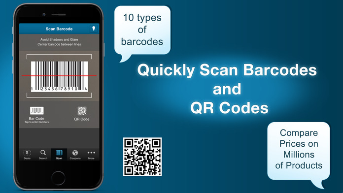 Price Scanner, UPC Barcode and QRreader, and Black Friday Comparison Shopping App Screenshot