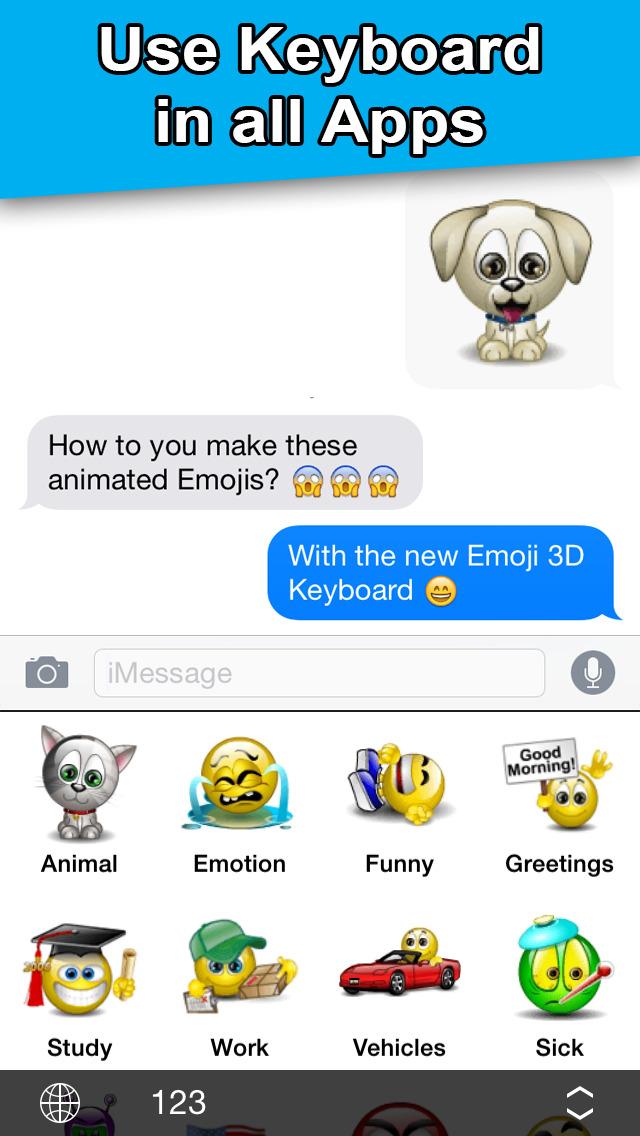 Download Emoji 3D Keyboard - PRO App Store softwares