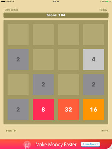 2048- 2x2 - mobile logic game - join the numbers  - appPicker